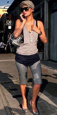 Paris Hilton  Diz boyunda şortlar bu yaz gardırobunuzun kurtarıcısı olmaya aday.